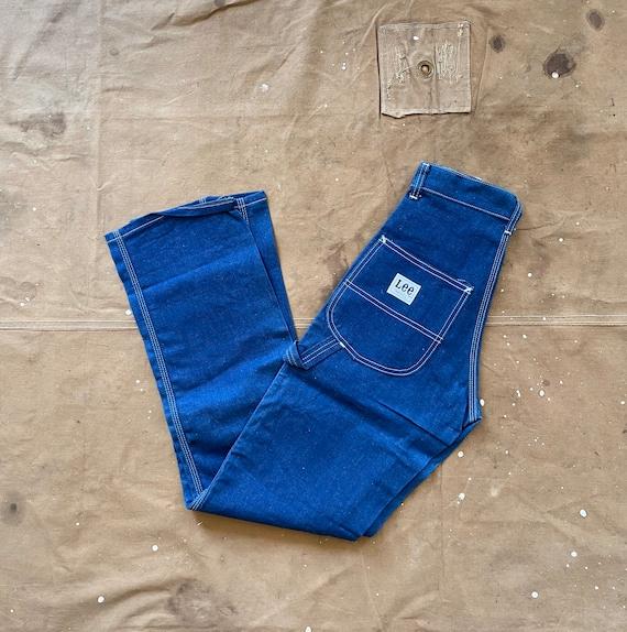 70s Lee Painters Pants 24 waist / 14 Slim Deadstock