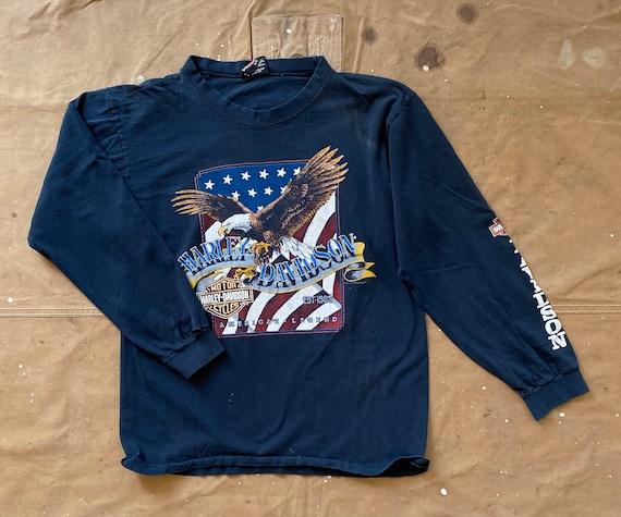 90s Harley Davidson Shirt Double sided Stratman
