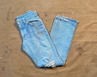 Distressed '80s Lee jeans 28 waist