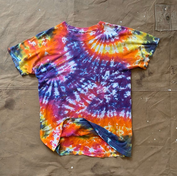 70s Tie Dye T-shirt Fruit of the Loom