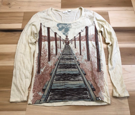 Train Railroad Knit All over Print t shirt by That Knit