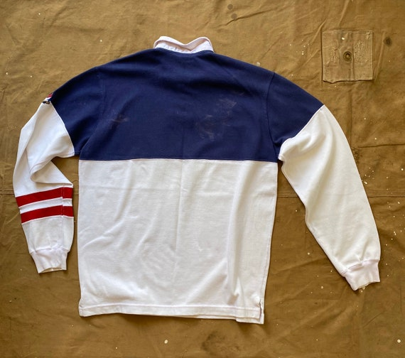 80s Ralph Lauren Crossflags Polo 1987 Rugby - image 4