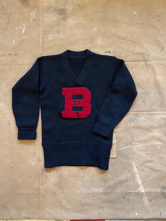 "1930s Varsity Sweater "" B "" Letterman - image 5"
