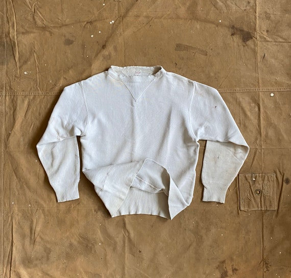 1940s Sweatshirt Double V Penneys Distressed / Rep