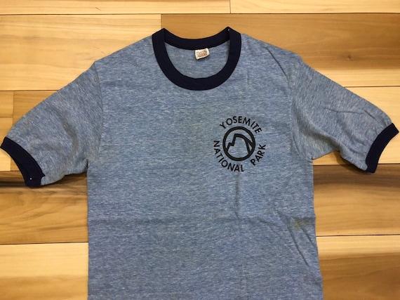 Yosemite 70s Hanes T Shirt Heather Blue  75 25