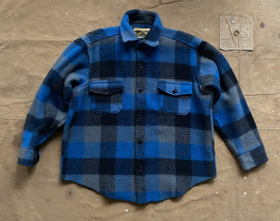 Melton Wool Shirt Jacket Plaid