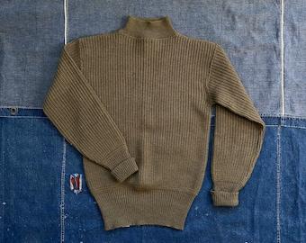 1940s Wool Sweater  US Navy Turtleneck WWII
