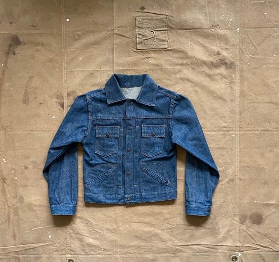 60s Denim Jacket Pleated one wash