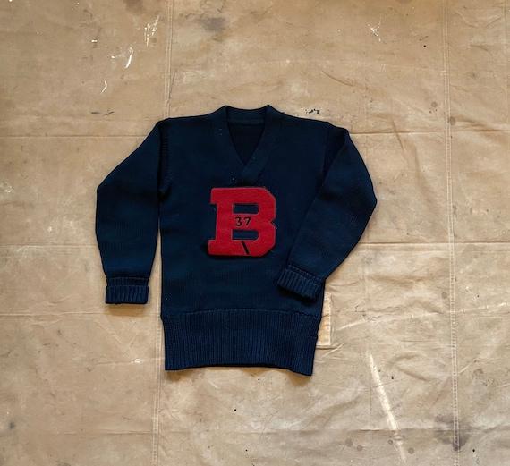"1930s Varsity Sweater "" B "" Letterman"