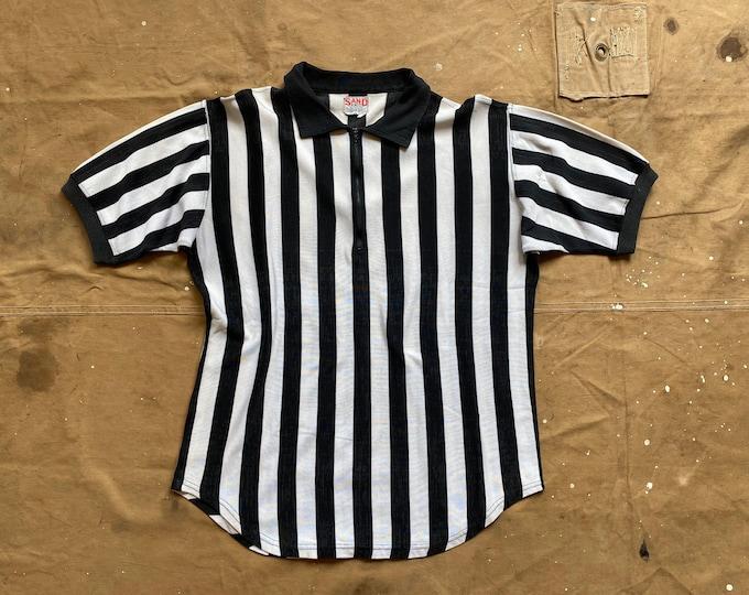 Rayon 50s Stripe Shirt Referee  Sand Knit