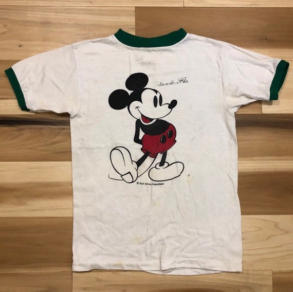1970s Mickey Mouse Ringer T Shirt Orlando Florida