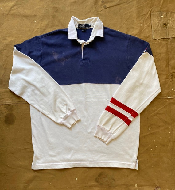 80s Ralph Lauren Crossflags Polo 1987 Rugby - image 2