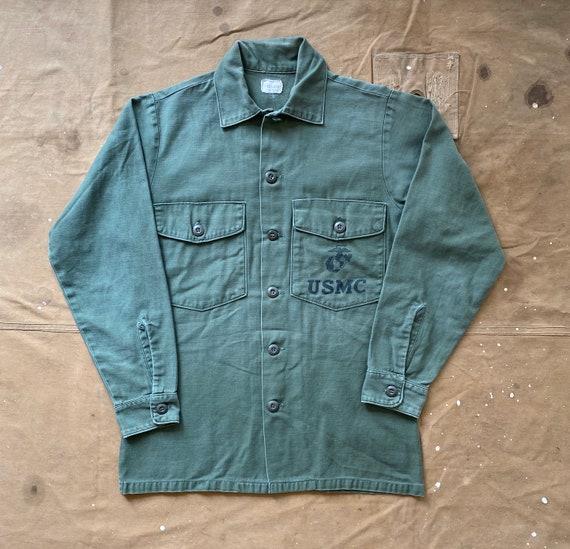 USMC Sateen OG 107 Shirt Vietnam Stencil