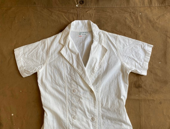 1940s Nurse Apron Uniform Morgan Linen