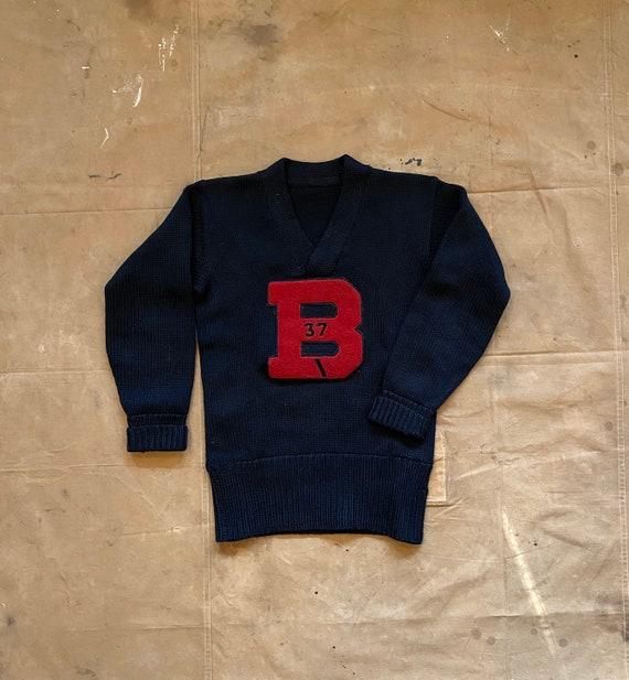 "1930s Varsity Sweater "" B "" Letterman - image 3"