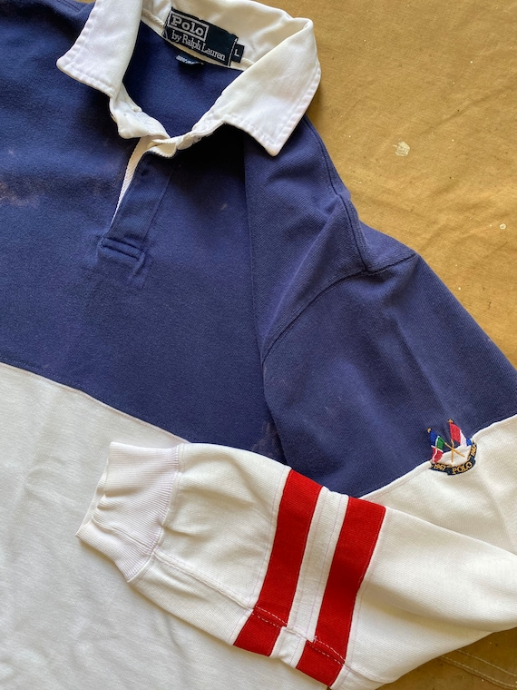 80s Ralph Lauren Crossflags Polo 1987 Rugby