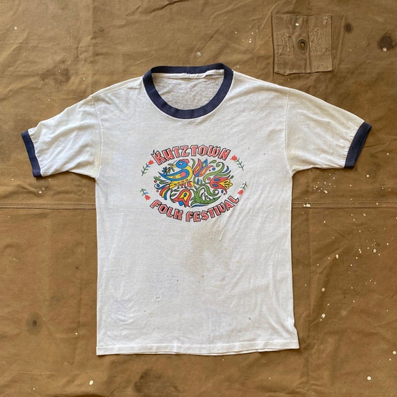 70s Kutztown Folk Festival Ringer T Shirt threadba