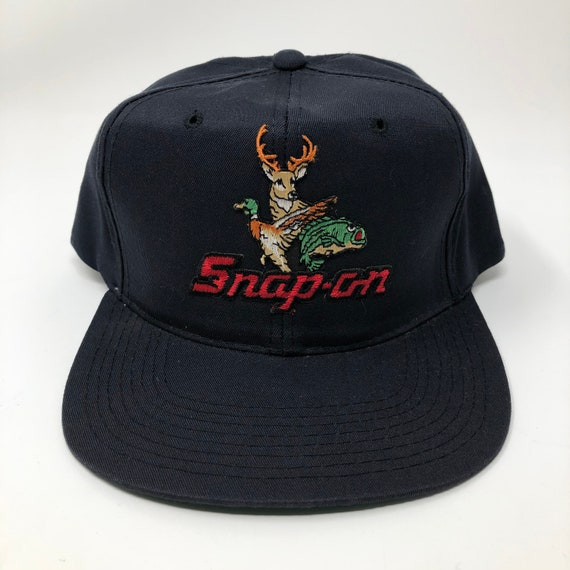 1980s Snap-on Buck Hunting Fishing Hat New Era Sna