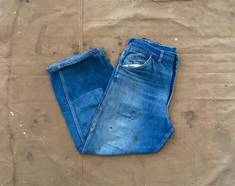 Patchwork 1950s Jeans Big Mac repaired