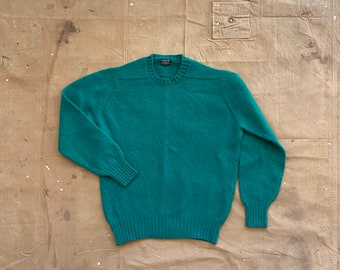 1950s Brooks Brothers Sweater Shetland Wool made in Scotland
