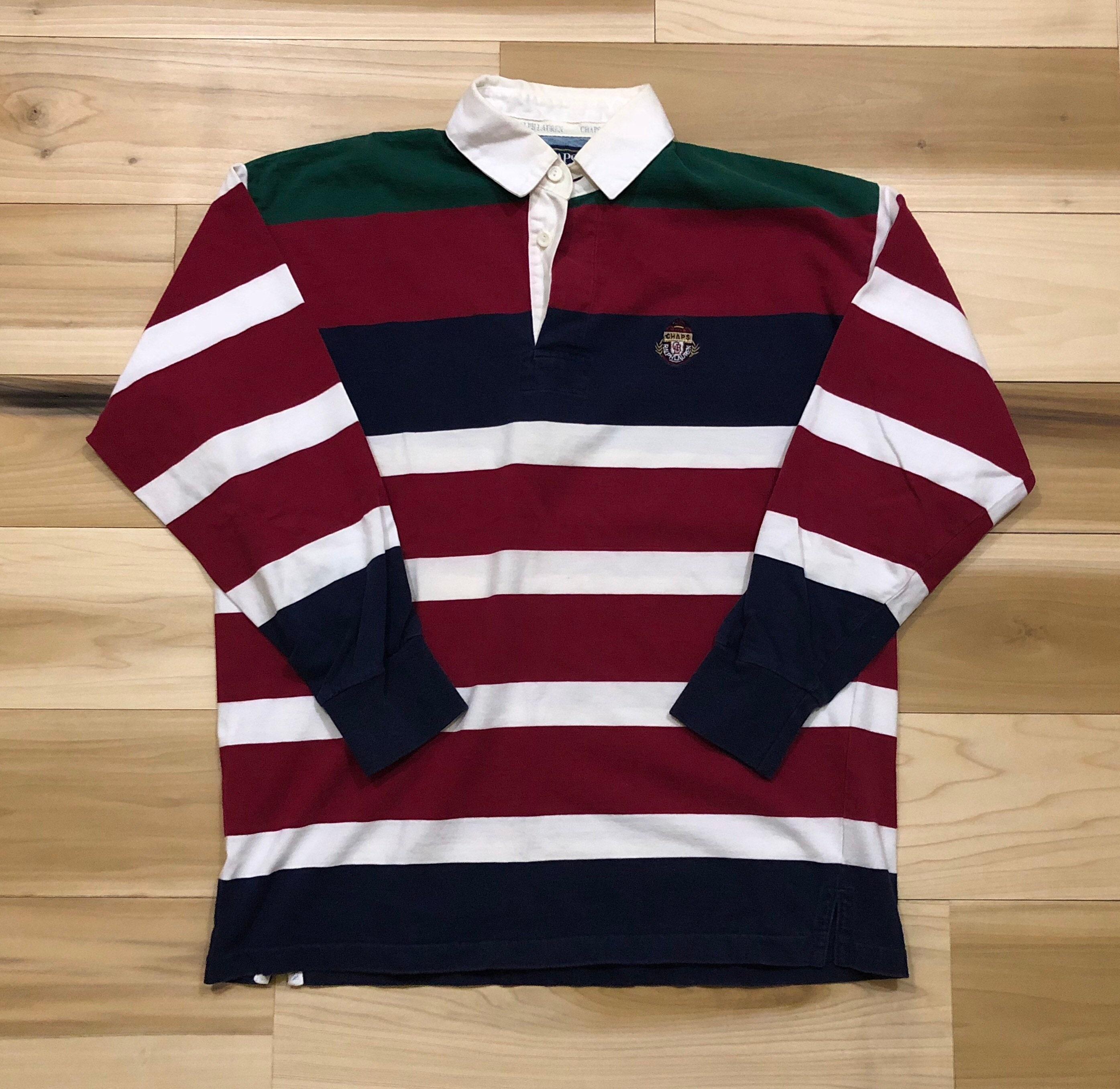 d8f0f2f886 Ralph Lauren Polo Rugby Stripe Polo Chaps Long Sleeve Shirt