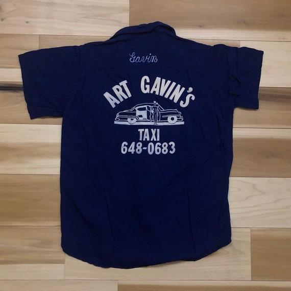Hilton 1950s Bowling Shirt Chain Stitch Rayon
