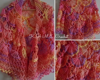 Broomstick Shawl Etsy