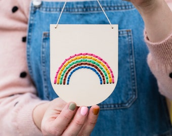 Small Rainbow Banner Embroidery Board Kit