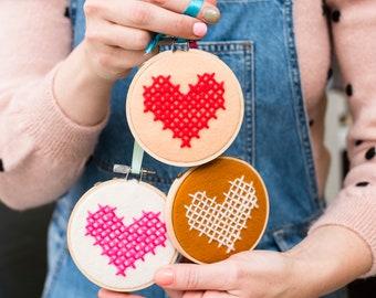 Heart Hoop DIY Embroidery Kit