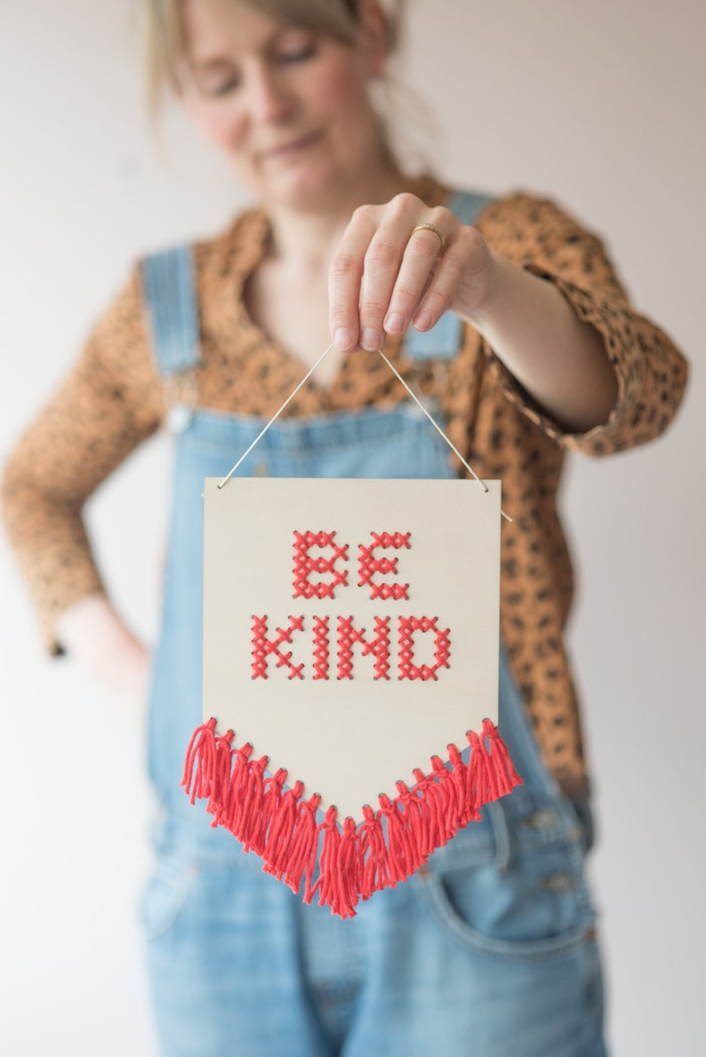 Be Kind Beginners Embroidery Cross Stitch Kit