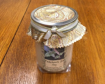 Patchouli essential oil candle in soy wax and cotton wick