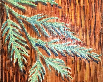 Cedarwood painting