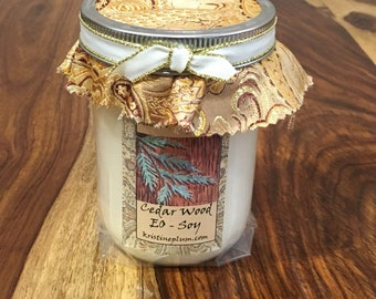 Cedar Wood Essential Oil Candle