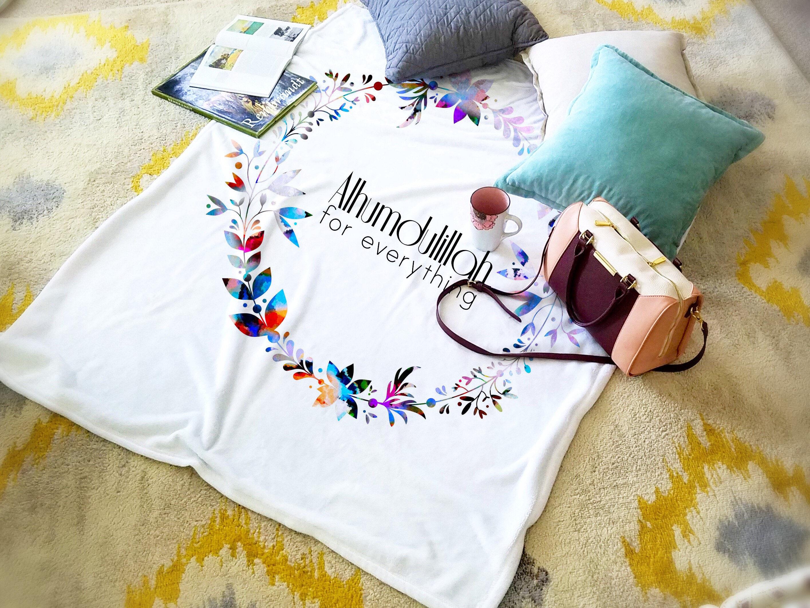 Contemporary Wedding Gifts: Modern Islamic Decor Islamic Blanket MashaAllah Blanket