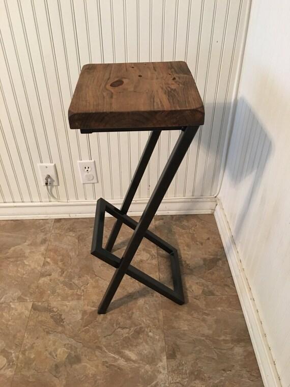 25 Bar Stools Metal And Wood Bar Stool Modern Stool Etsy