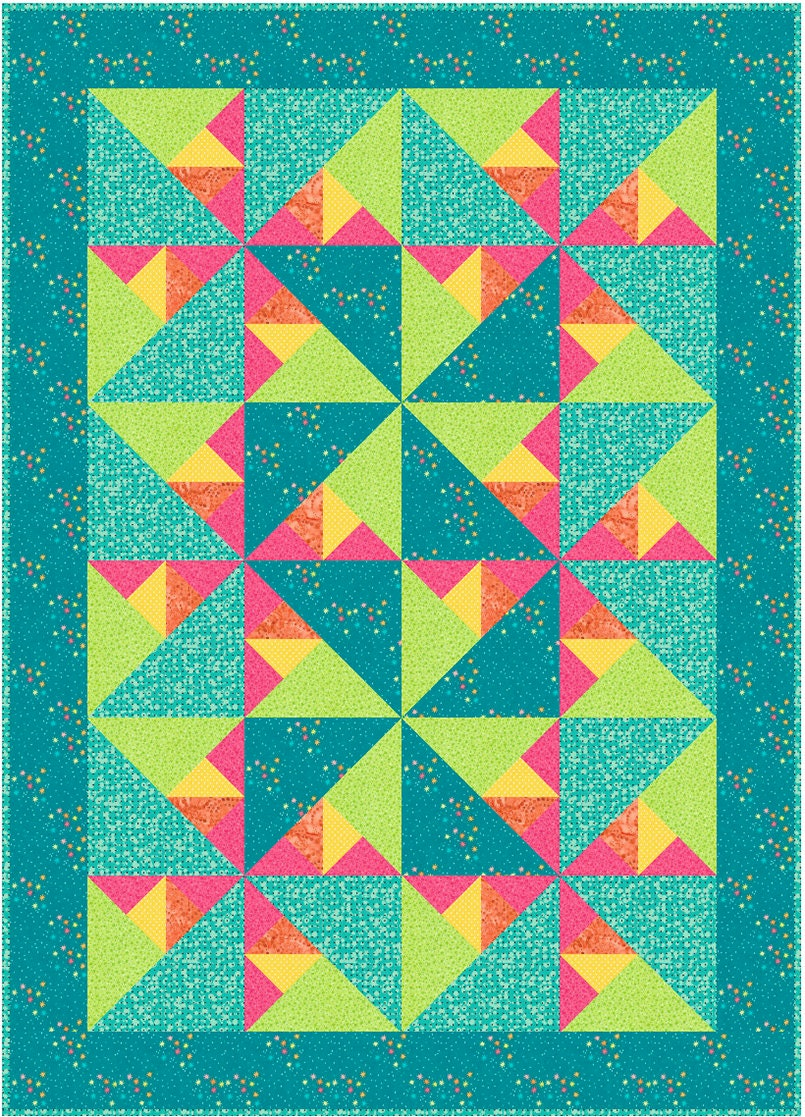 Triangle Quilt Patterns Magnificent Ideas