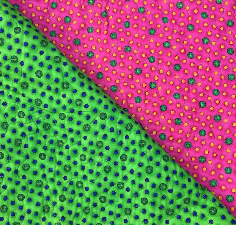 Kids Patchwork Pocket Quilt with Appliqu\u00e9 Daisies Bright Colors
