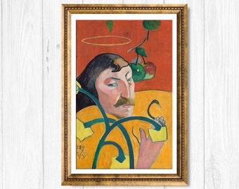Canvas art reproduction - Paul Gauguin Self Portrait - 1889