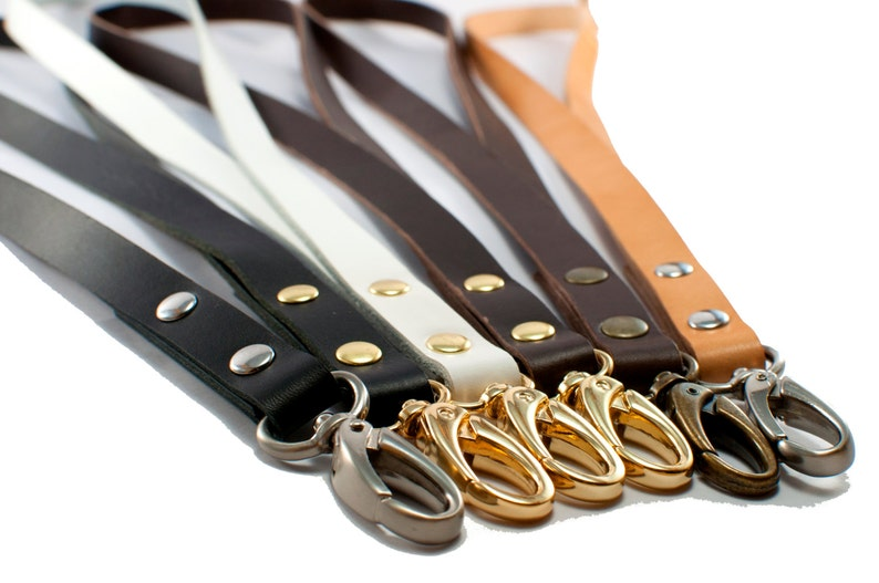 Add your name to customize this key holder! Leather Key Lanyard