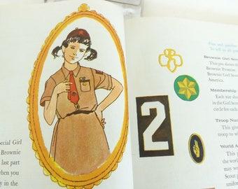 1965 Brownie Girl Scout Handbook, Vintage Book, Girl Book, Girl Scout Book, Brownie Book, Collectible, Girl's Book, Girl Scout Leader