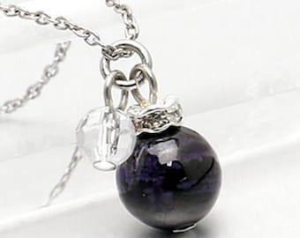 Purple Brown Sugilite Necklace, Sugilite Silver Necklace,Sugilite Jewelry,Sugilite Beads Necklace,Sugilite Pendant,Sugilite Necklace for Mom