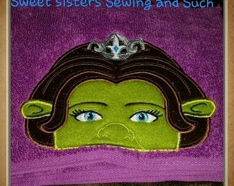 Swamp Ogre Princess hooded towel