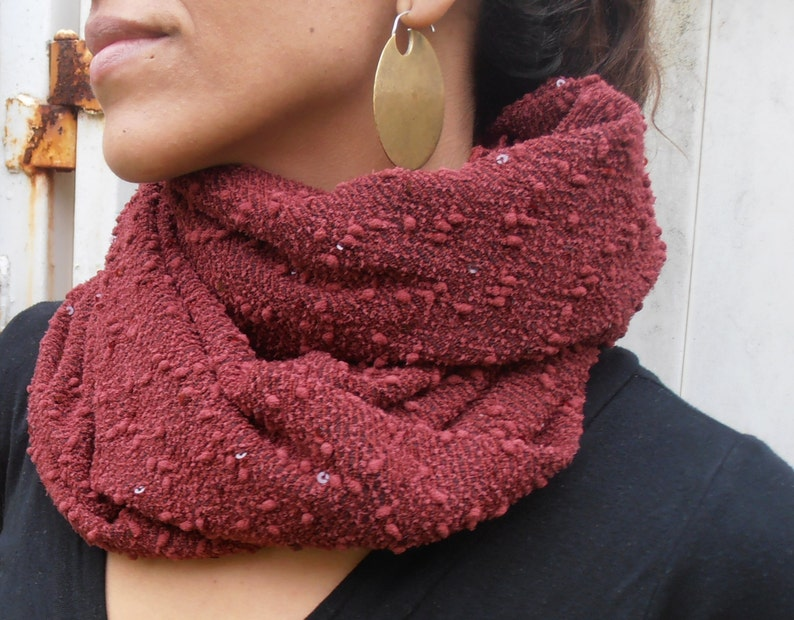 94e589d94f1 Maroon Scarf, Loop Scarf, Infinity Scarf, Fashion Scarves, Burgundy Scarf,  Womens Accessories, Womens Gift, Holiday Gift, Winter Gift Ideas