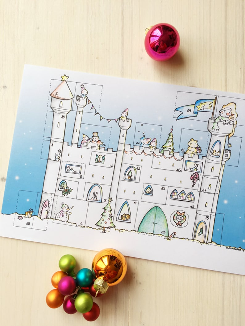 DIY Advent Calendar. INSTANT DOWNLOAD. Winter Activity for image 0