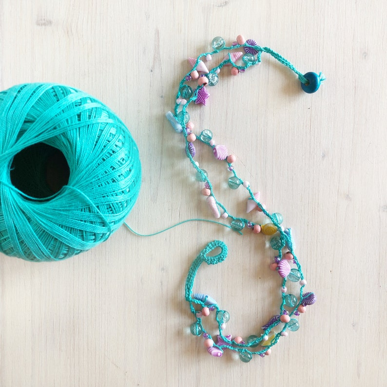 Crocheted Necklaces Patterns including how to crochet with image 0
