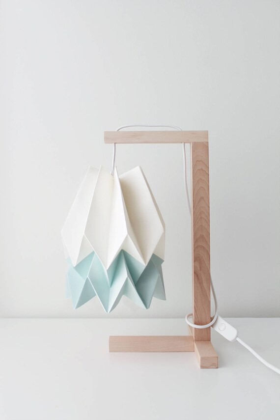 CARIBBEAN Blue Stripe Paper Lamp Hanging Lampshade Summer Collection Origami Lamp