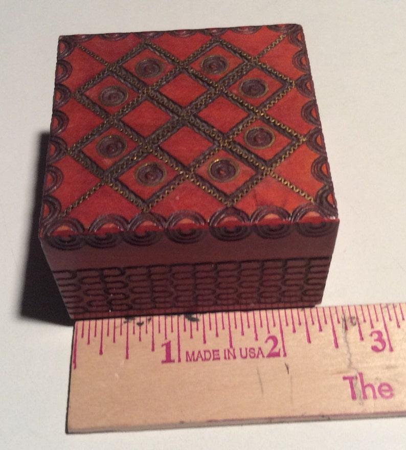 vintage Polish hand made trinket box image 0