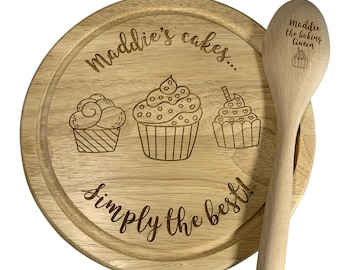 Jajo personalised cake board, cupcake stand, personalised bakers board, mothers day gift, queen of the kitchen, cupcake display board