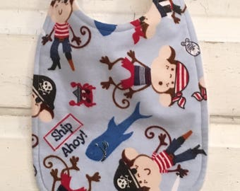 Adorable Pirate Toddler-Baby Bib !! FREE SHIPPING !!!!!!!