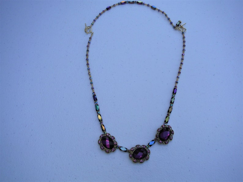 amethyst plum and violet A rich color whatever you call it lilac Convertible jewelry set. The color purple passion